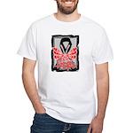 Hope Butterfly Melanoma White T-Shirt