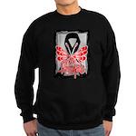 Hope Butterfly Melanoma Sweatshirt (dark)