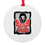 Hope Butterfly Melanoma Round Ornament