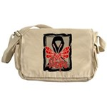 Hope Butterfly Melanoma Messenger Bag