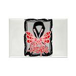 Hope Butterfly Melanoma Rectangle Magnet (100 pack