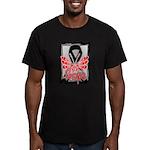 Hope Butterfly Melanoma Men's Fitted T-Shirt (dark