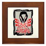 Hope Butterfly Melanoma Framed Tile
