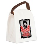 Hope Butterfly Melanoma Canvas Lunch Bag