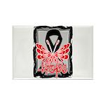 Hope Butterfly Melanoma Rectangle Magnet (10 pack)