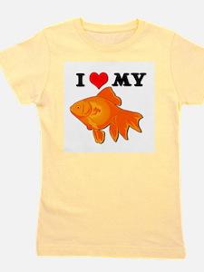 goldfish.psd Girl's Tee