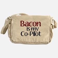 Bacon is my Co-Pilot Messenger Bag