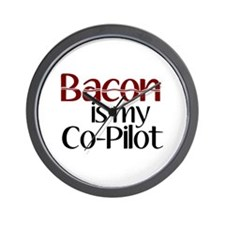 Bacon is my Co-Pilot Wall Clock