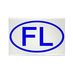 FL Oval - Florida Rectangle Magnet (100 pack)