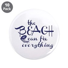 """The Beach Can Fix Everything 3.5"""" Button (10"""