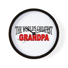 """The World's Greatest Grandpa"" Wall Clock"