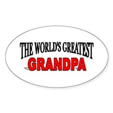 """""""The World's Greatest Grandpa"""" Oval Decal"""