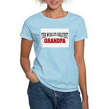 """The World's Greatest Grandpa"" Women's Pink T-Shir"