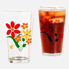 Summer Flower Bouquet Drinking Glass