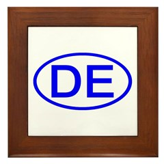 DE Oval - Delaware Framed Tile