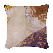 Gustav Klimt Danae Woven Throw Pillow