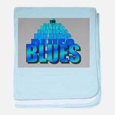 BLUES MUSIC BLUES baby blanket