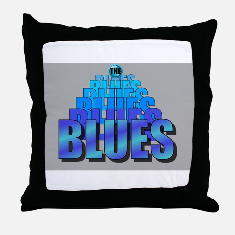 BLUES MUSIC BLUES Throw Pillow