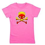 flamingl skull and crossbones copy.png Girl's Tee