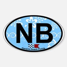 Navarre Beach - Oval Design Decal