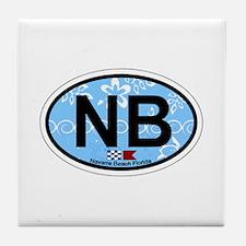Navarre Beach - Oval Design Tile Coaster