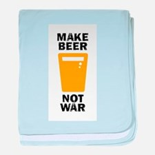 Make Beer Not War baby blanket
