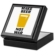 Make Beer Not War Keepsake Box