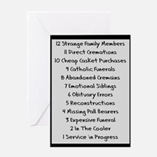 funeral proof 1 Greeting Card