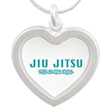 Mixed Martial Arts Silver Heart Necklace