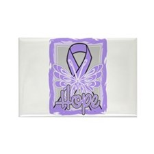 Hope Butterfly General Cancer Rectangle Magnet