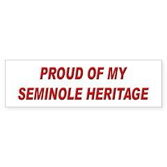 Seminole Heritage Pride Bumper Bumper Sticker