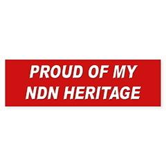NDN Heritage Pride Bumper Bumper Sticker