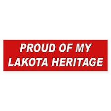 Lakota Heritage Pride Bumper Bumper Sticker