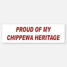 Chippewa Heritage Pride Bumper Bumper Bumper Sticker