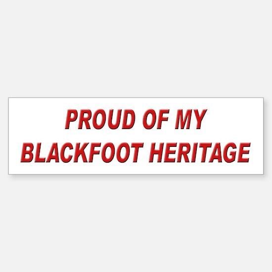 Blackfoot Heritage Pride Bumper Bumper Bumper Sticker