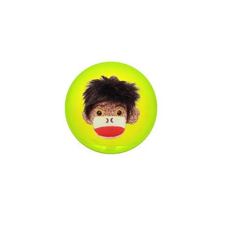 Sock Monkey Tommy Mini Button
