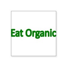Eat Organic Sticker