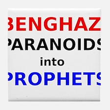 Benghazi Paranoids into Prophets Tile Coaster