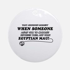 Egyptian Mau cat gifts Ornament (Round)