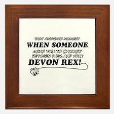 Devon Rex cat gifts Framed Tile