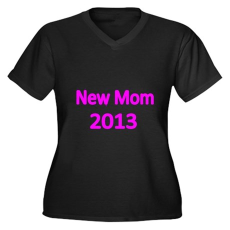 New Mom 2013-pink Plus Size T-Shirt