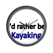 Id rather be Kayaking Wall Clock