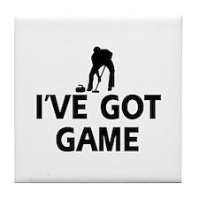 I've got game Curling designs Tile Coaster