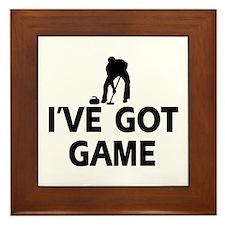 I've got game Curling designs Framed Tile