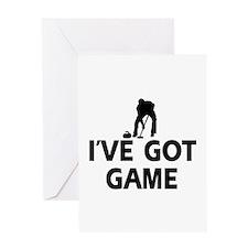 I've got game Curling designs Greeting Card