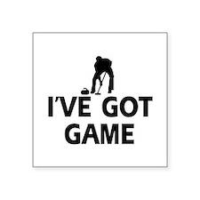 """I've got game Curling designs Square Sticker 3"""" x"""