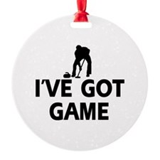 I've got game Curling designs Ornament