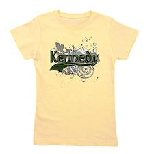 Kennedy Tartan Grunge Girl's Tee
