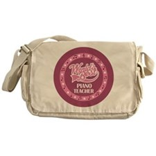 Worlds Best Piano Teacher Messenger Bag