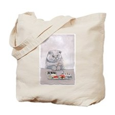 Cute and Kawaii Sushi Cat Tote Bag!